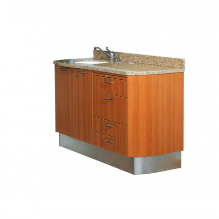 Belmont D-1 and D-3 Doctor & Assistant Side Cabinet - Distributed by Henry Schein