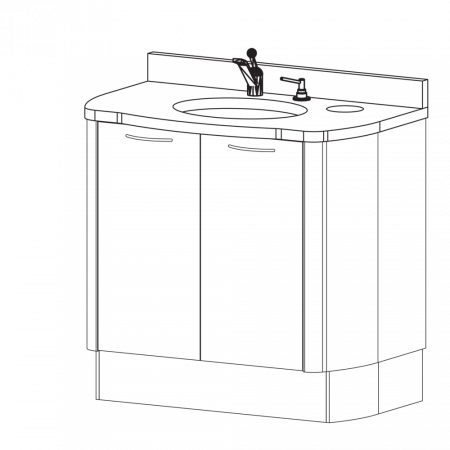 Belmont D-8 Sink Unit - Distributed by Henry Schein