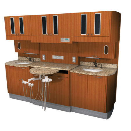 Belmont D-66CM3 Left-Right Rear Treatment with Sink - Distributed by Henry Schein