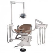 BDU-570 Swing mounted delivery with optional BDS-0050 Vac Pac and Clesta light on a B-50 chair