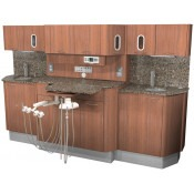E-7 Rear Treatment Console with Dual Sinks