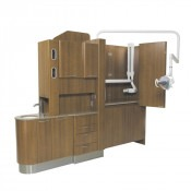 Belmont E-4 Split Entry Console Cabinet with bifold door Clesta light and PHOT-xIIS options