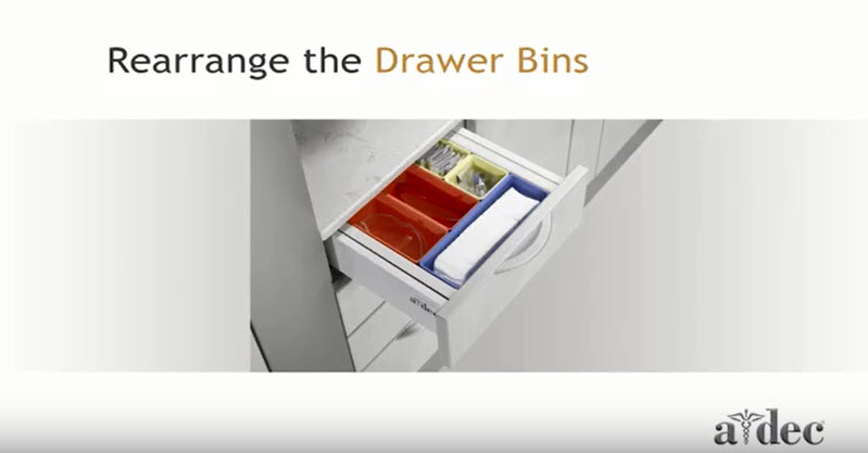 Inspire Dental Furniture_Rearrange the Drawer Bins