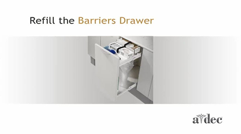 Inspire Dental Furniture_Refill the Barrier Drawer