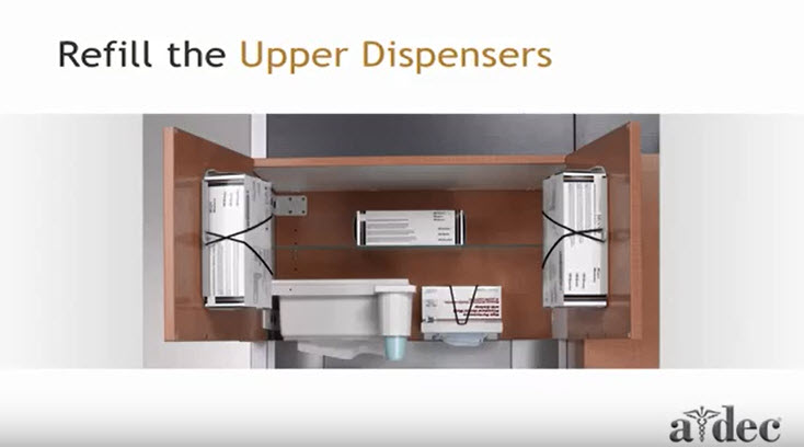 Inspire Dental Furniture_Refill the Upper Dispensers