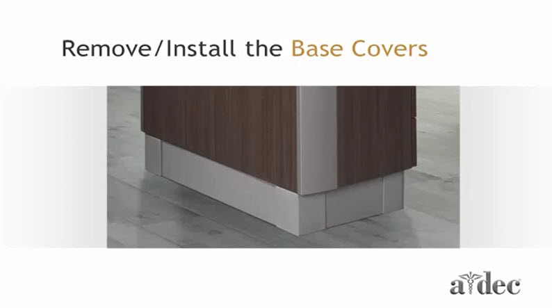 Inspire Dental Furniture_Remove and Install Base Covers